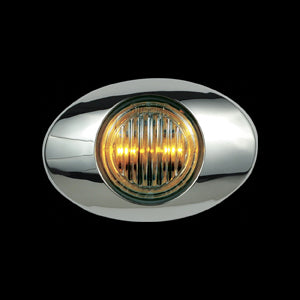 Panelite M3 amber 2 diode LED marker light - CLEAR lens