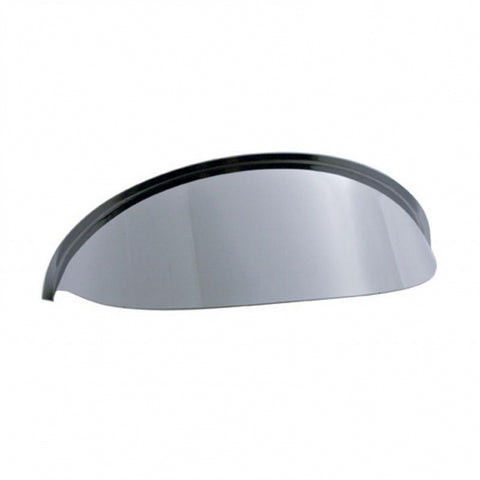 "5-3/4"" diameter dual round headlight stainless steel visor"