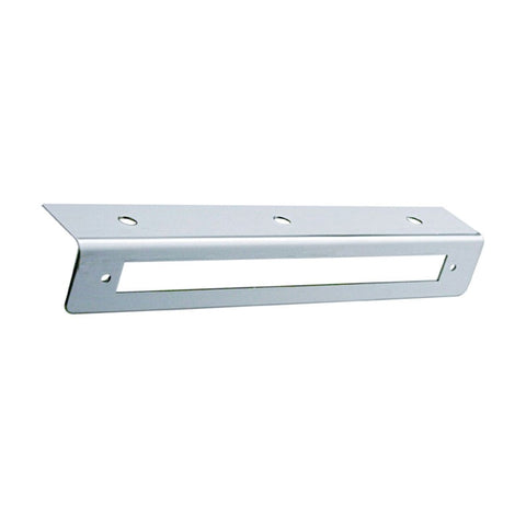 "Stainless steel light bracket with cutout for 9"" long light bars"
