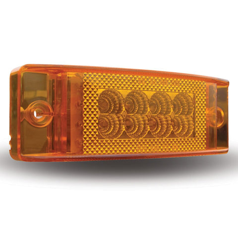 "Amber 2"" x 6"" rectangular 24 diode LED marker light"