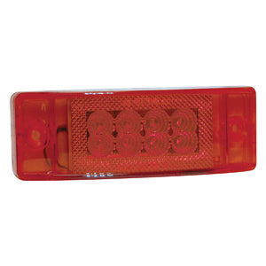 "Red 2"" x 6"" rectangular 24 diode LED marker light"