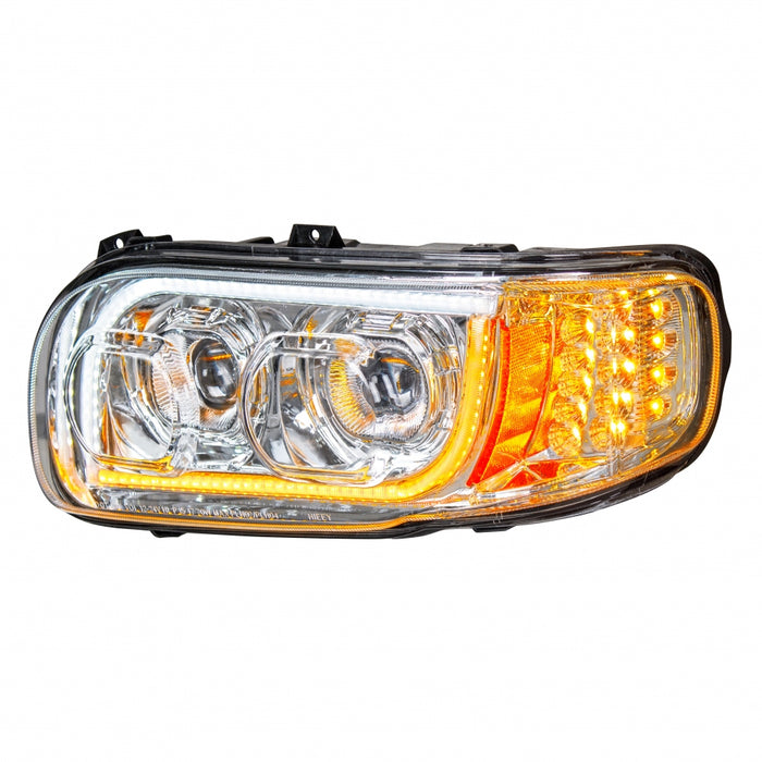 Peterbilt 388/389 projection-style ALL LED headlight w/turn signal/position bar