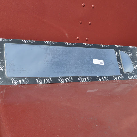 "International Prostar stainless steel 6"" chopped look trim - PAIR, for trucks with NON-sealed vent window"