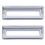 Freightliner Classic/FLD chrome plastic switch label cover w/visor - 6/PACK