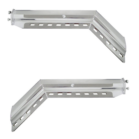 Heavy duty angled stainless steel mudflap hangers - PAIR