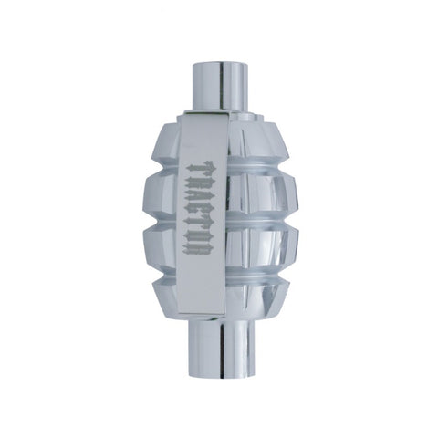 Chrome aluminum Grenade screw-on air brake valve knob - Tractor