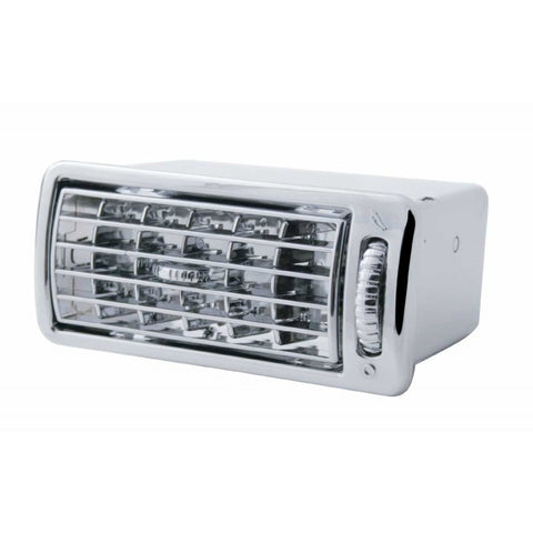 Volvo chrome plastic dash air conditioner/heater vent