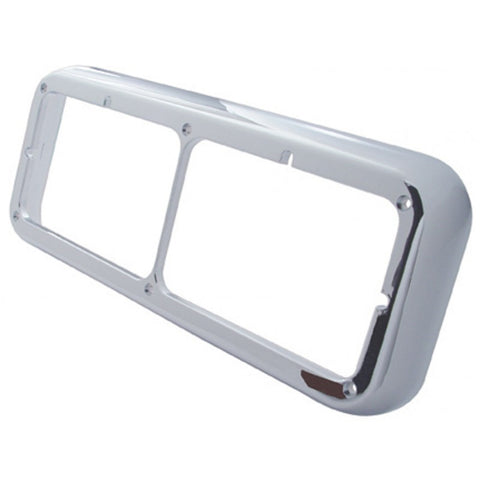Chrome plastic dual rectangular headlight bezel