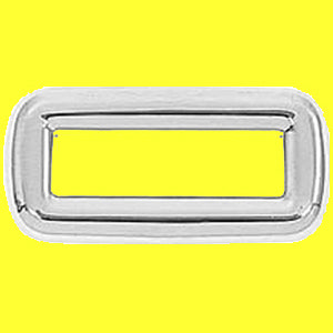 Peterbilt 2001-2005 chrome plastic switch label cover without visor - 6/PACK