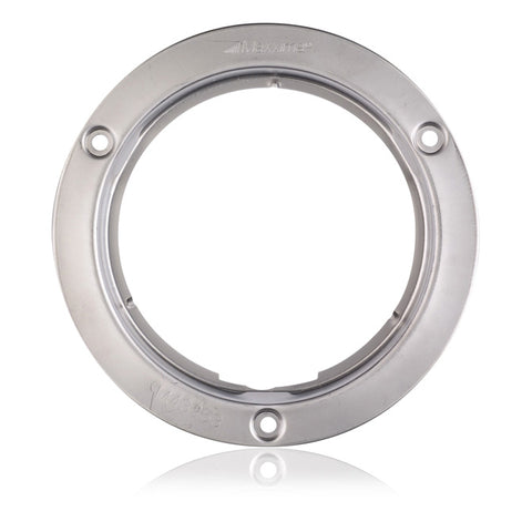 "Maxxima 4"" round stainless steel light security flange"