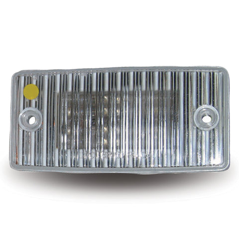 Amber 20 diode LED marker light for Freightliner visors - CLEAR lens