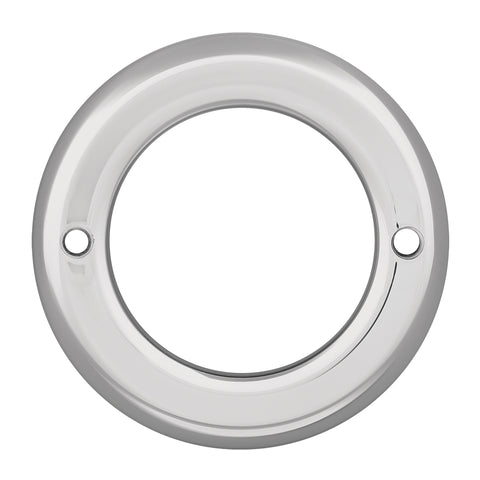 "2.5"" round chrome plastic light bezel"
