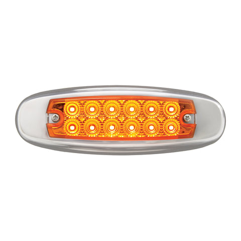 Spyder Amber Peterbilt-style 12 diode LED ultra-thin marker light