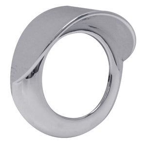 "2"" round ""Stealth"" chrome plastic screwless grommet cover with visor"