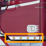 "Freightliner Century/Columbia stainless steel cab panels w/8 round 2"" light holes"