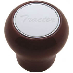 Large wood screw-on type air brake valve knob - Tractor