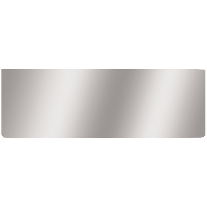 "12"" stainless steel rear center panel - blank, no light holes"