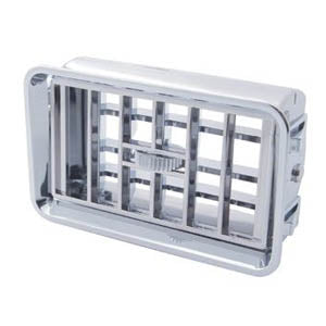 Freightliner Classic/FLD chrome plastic dash vent w/frame