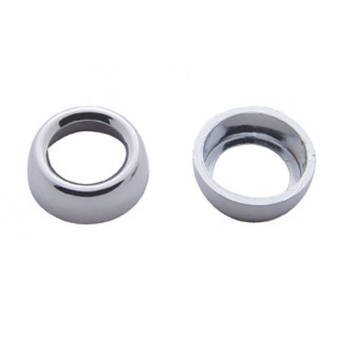 Freightliner Classic/FLD chrome plastic switch nut cover - 6/PACK