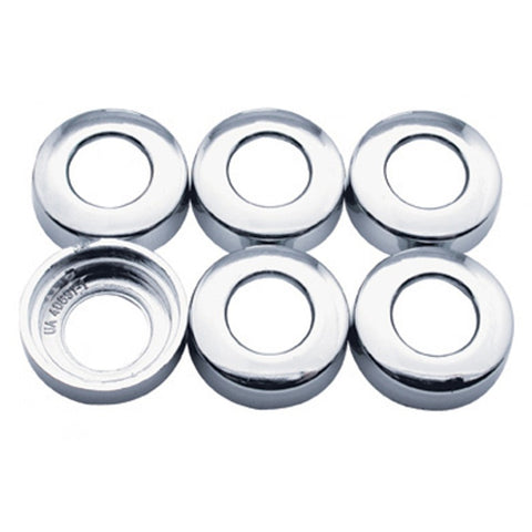 Kenworth chrome plastic toggle switch nut covers - 6/PACK