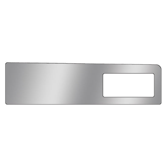 Kenworth -2001 stainless steel glove box upper trim w/cutout for air conditioner/heater vent