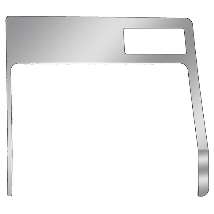 Kenworth -2001 stainless steel glove box surround trim