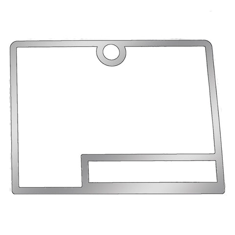 Kenworth -2001 stainless steel glove box border trim