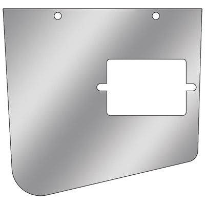 Kenworth -2001 stainless steel ash tray cover and surround - 2 pieces, driver's side