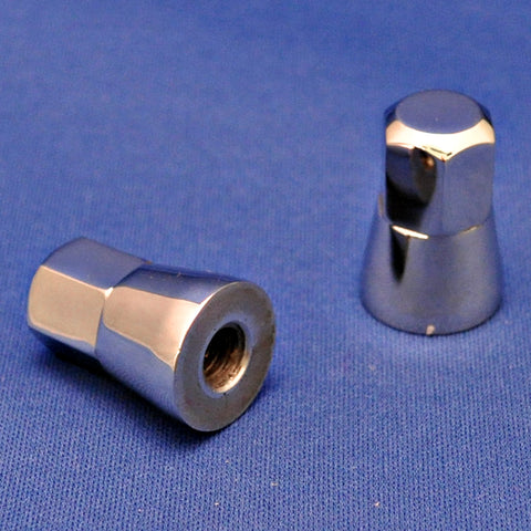 Stainless steel cap style air cleaner nut