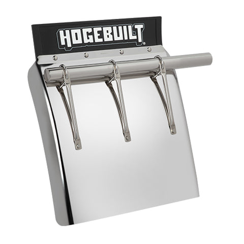 "Hogebuilt Premium stainless steel 24"" high mount quarter fender with support arms"