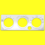 Woody's International stainless steel air conditioner control plate with one button hole