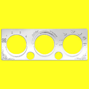 Woody's International stainless steel air conditioner/heater control plate - 2 button holes