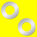 Woody's Freightliner stainless steel tractor/trailer air brake valve hole surround - PAIR