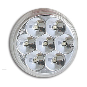 "Pearl Amber 2"" round low-profile 7 diode LED marker light - CLEAR lens"