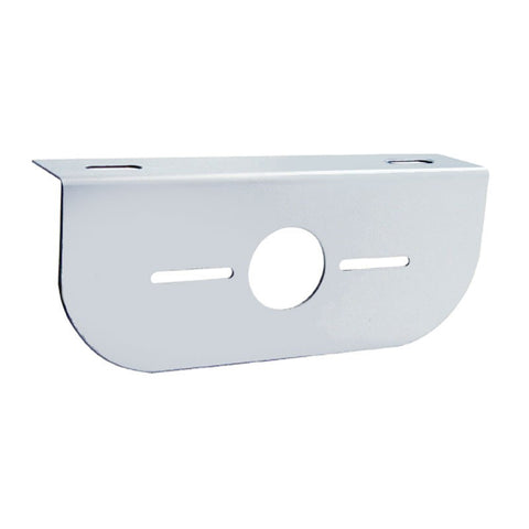 Stainless steel light bracket w/1 combo light hole ONLY - rounded edge