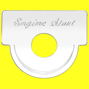 "Woody's Peterbilt -2000 stainless steel ""Engine Start"" switch plate - square style"