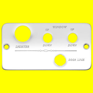 Woody's Freightliner switch plate panel w/right and left window, power door lock holes
