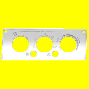 Woody's Kenworth 2002-2005 stainless steel air conditioner/heater control plate