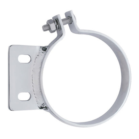 "Peterbilt stainless steel 7"" diameter exhaust clamp, 2 hole"