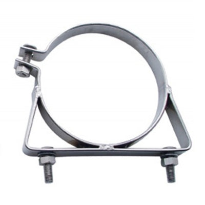 "Freightliner/Kenworth ACFM polished stainless steel narrow stack mounting clamp - 6"" diameter"
