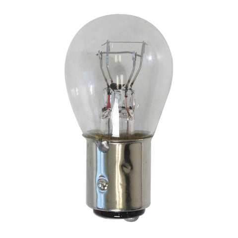 #1157 Clear glass incandescent light bulb - PAIR