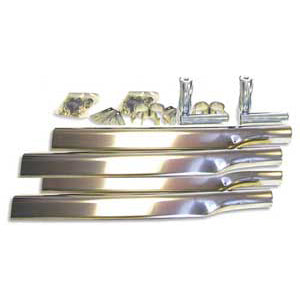 Stainless steel mounting kit w/triangular arms for half moon fenders