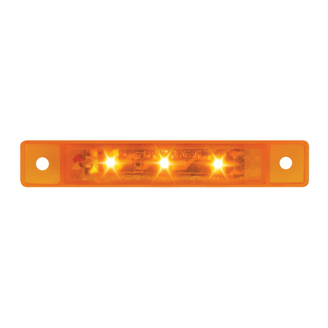 "3.5"" Amber 3 diode LED ultra-thin mini marker light bar"