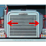 "Freightliner Classic XL stainless steel 29"" tall side grill deflectors - PAIR"