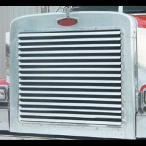 Peterbilt 379 extended hood stainless steel grill w/16 louvered bars