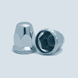 Alcoa 33mm chrome plastic threaded hex lugnut cover