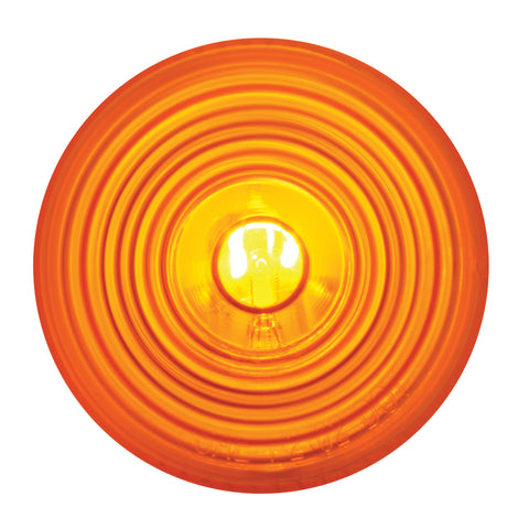 "Amber 2"" round incandescent marker/clearance light"