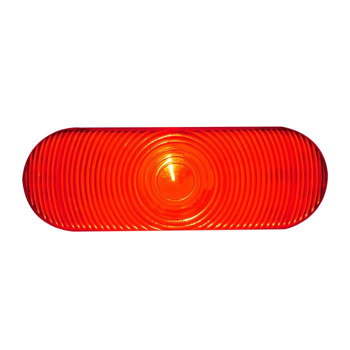 Red oval incandescent stop/turn/tail light