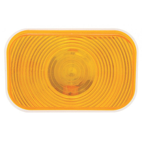 Amber rectangular incandescent turn signal light