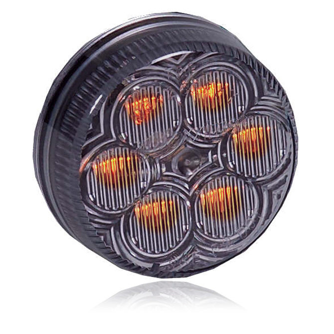"Maxxima amber 2"" round 6 diode LED marker light - CLEAR lens"